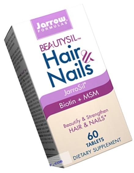 Jarrow Formulas BeautySil Hair & Nails, Beautify & Strengthen Hair & Nails, 60 Tablets