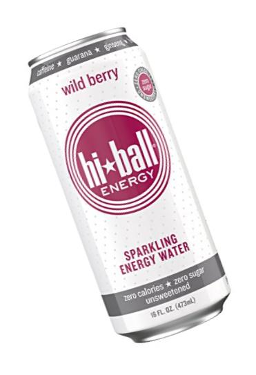 Hiball Energy Sparkling Water, Wild Berry, 16 Ounce (Pack of 12)