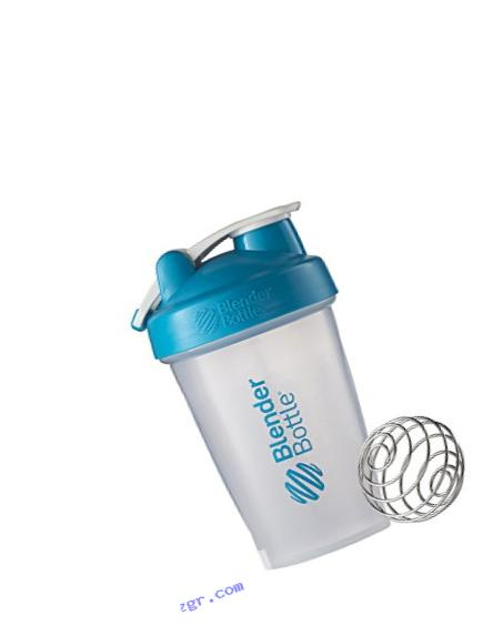 BlenderBottle Classic Loop Top Shaker Bottle, Clear/Aqua, 20-Ounce Loop Top