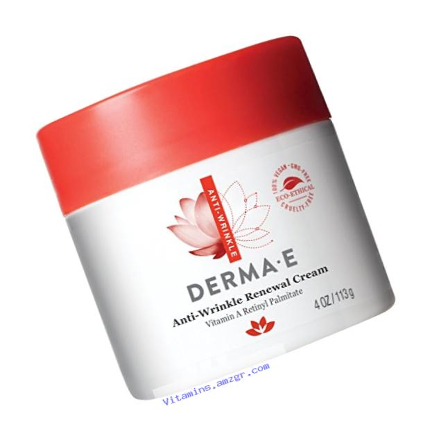 DERMA E Anti-Wrinkle Renewal Cream with Vitamin A Retinyl Palmitate 4oz