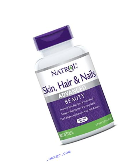 Natrol Skin, Hair and Nails Advanced Beauty Capsules, 60 Count