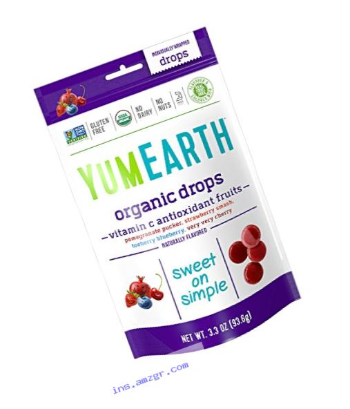 YumEarth Organic Natural Vitamin C Drops, Anti-Oxifruits, 3.3 Ounce Pouches (Pack of 6)