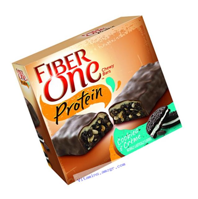 Fiber One Protein Chewy Bar Cookies and Cr??me 5 - 1.17 oz Bars