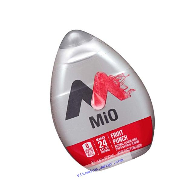 MiO Liquid Flavored Water Enhancer, Fruit Punch, 1.62 Ounce Bottle