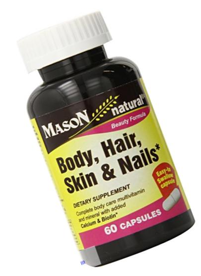 Mason Vitamins Body Hair Skin & Nails Beauty Formula, 60 Capsule