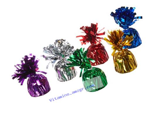 Metallic Balloon Weights - Assorted Colors (pack of 12) by happy deals