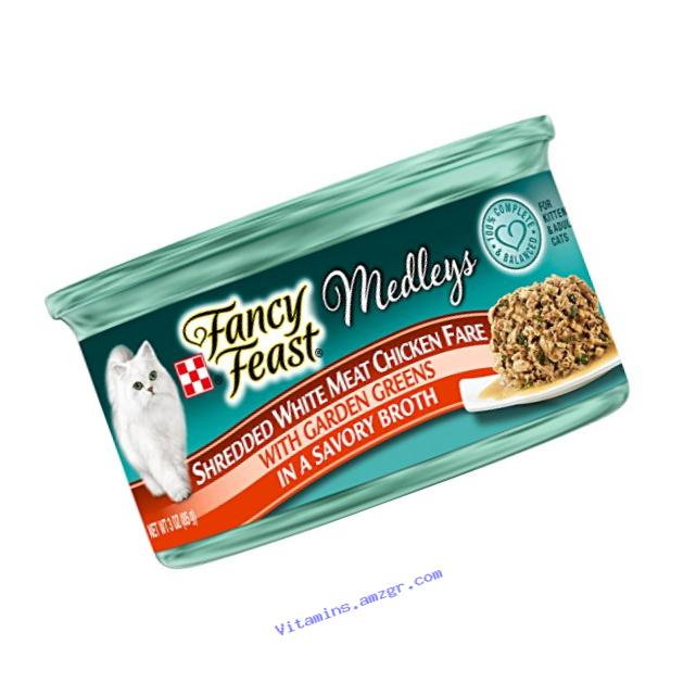 Fancy Feast Elegant Medleys Shredded White Meat Chicken Fare, 3-Ounce Can, Pack of 24