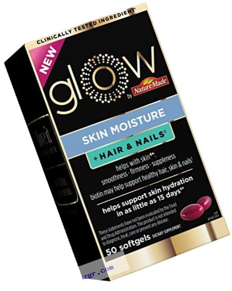 Glow skin moisture + hair & nails 50 softgels