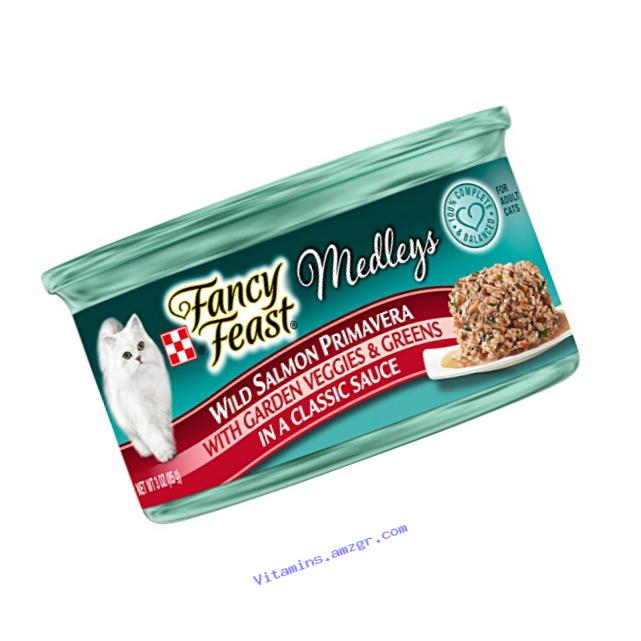 Purina Fancy Feast Wild Salmon Primavera Cat Food - (24) 3 oz. Pull-top Can