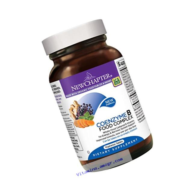 New Chapter Vitamin B Complex - Coenzyme B Food Complex with Vitamin B12 + Vitamin B6 + Biotin + Organic Non-GMO Ingredients - 60 ct